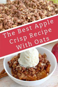 Apple Crisp No Oats, Homemade Apple Crisp, Best Apple Crisp Recipe, Best Apple Recipes, Apple Pie Recipe Easy, Apple Crumble Recipe, Apple Crisp Recipes, Fall Recipes, Sweet Recipes