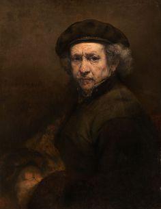 Autoportrait avec béret et col droit, par Rembrandt van Rijn