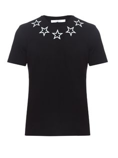 Givenchy Cuban-fit star-print cotton T-shirt