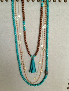 Necklace turquoise.