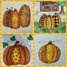 Pumpkin Zentangle - Kids Art Class