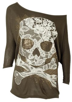 I actually like this. I'm not a fan of skulls unless it's tasteful & I really like how feminine it is here with the lace.