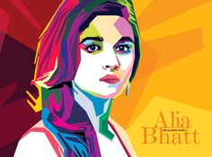 Wedha's Pop Art Portrait of Alia Bhatt - An Actress from Bollywood.