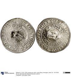 Jülich-Berg: Herzogtum Münze Wilhelm II. (1361-1393), Herzog von Jülich, Herzogtum, Münzherr 1382 Land: Deutschland (Land) Region: Rheinland (Region) Münzstätte/Ausgabeort: Mülheim am Rhein Fundort: Deutschland (Land) Fundort: Erfurt (Ort) Nominal: Bausche, Material: Silber, Stempelstellung: 11, Druckverfahren: geprägt Gewicht: 1,72 g Durchmesser: 24 mm