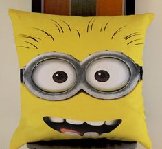 minions the movie funny face despicable me pillow cases size 20x20 two side #Modern