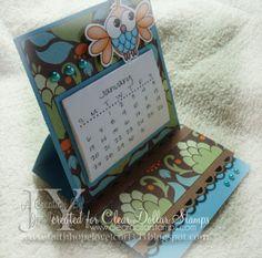 Creating in Faith, Hope and Love...: 4x4 Easel Mini Calendar Card