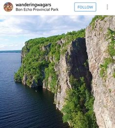 Bon Echo Provincial Park in Cloyne, Ontario, Canada is known for their breathtaking cliffs. Close to the waterline, there are thousand year old pictographs on these granite walls. Stuff To Do, Things To Do, Ontario Parks, Family Adventure, Travel Scrapbook, Canada Travel, Family Travel, Travel Photos, Travel Photography