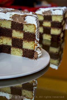 Come fare la Torta a Scacchi o Checkerboard Cake - Cuore di Sedano