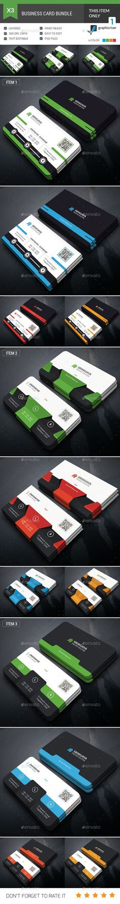 Dark #Business #Card Bundle - Corporate Business Cards Download here: https://graphicriver.net/item/dark-business-card-bundle/19904432?ref=alena994