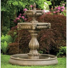Classic Lion Head Garden Tier Fountain with Pool LO3552