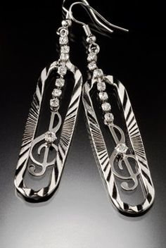Music is the center of my world Earrings by thesilverman on Etsy, $95.00