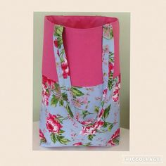 Handmade tote/shopping bag. Beach, college, school, floral, summer by Giftwithlovebysian on Etsy