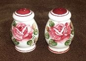 Lefton Countess Rose Sculpted Red Rose Salt Pepper Shaker Sets