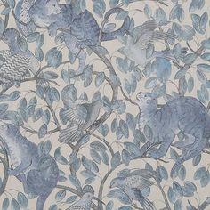 Zippy´s Hide and Seek Pale Blue tapet från Au fil des Couleurs® - Fraktfritt online