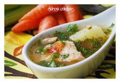 Ciorba cu carne afumata de porc - Eileen Cuisine Mashed Potatoes, Chicken, Meat, Supe, Cooking, Ethnic Recipes, Travel, Kitchens, Pork