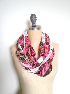 The Infinity Scarf in Multi Strand Pink by SevenWhiteRabbits