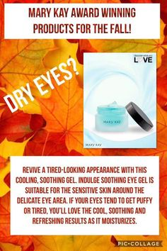 Indulge® Soothing Eye Gel - Contains botanical extracts reported to tone, firm and reduce the appearance of puffiness around the sensitive eye area. Mary Kay Moisturizer, Mary Kay Malaysia, Party Market, Selling Mary Kay, Mary Kay Party, Mary Kay Cosmetics, Mary Kay Makeup, Eye Gel, Halloween