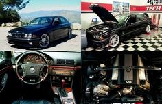 BMW 540i Love the dressed up engine bay & Strut brace !