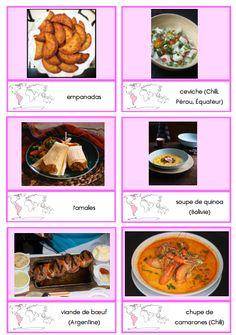 De nouvelles cartes de nomenclature des continents : peuples, spécialités culinaires et habitats