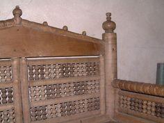 Detail of turned decoration, 12th century Bishop's Chair, Gamla Uppsala