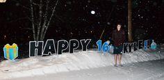 Happy Sweet 16, Kyle! Birthday Yard Signs, Boy Birthday, Happy Birthday, Lawn Sign, Host A Party, Winter Theme, Sweet 16, Fun, Happy B Day