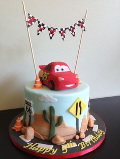 Cars Lightning McQueen Birthday Cake