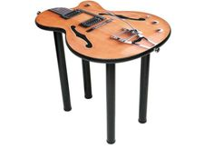A guitar table made of dry molded Russian birch.