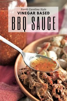 Carolina vinegar BBQ sauce is a sour, tangy, and spicy sauce that originated in North Carolina. This thin, vinegar-based sauce is extremely easy to make and is the ultimate BBQ sauce for smoked or grilled pork. #bbqsauce #carolinabbqsauce #bbqsauce