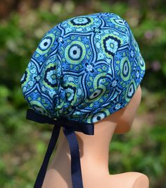 Womens Surgical Scrub Hats The Mini Mosaic by thehatcottage, $15.50