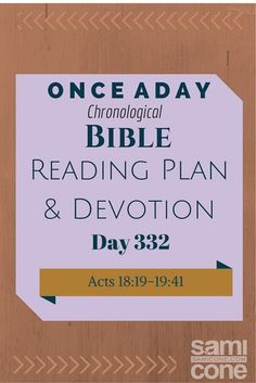 Once A Day Bible Reading Plan & Devotion Day 332