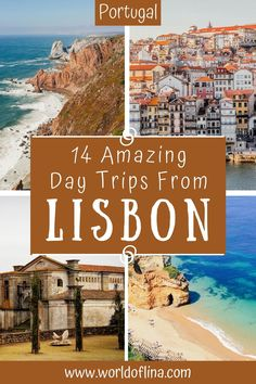 Here are THE 14 most amazing and best day trips from Lisbon that are just a short ride away and guarantee you an unforgettable day! #lisbon #portugal #europe #lagos #porto | Travel to Portugal | What to do in Portugal | Places to See in Portugal | Lisbon Travel Solo Travel Europe, Road Trip Europe, Europe Travel Guide, Spain Travel, European Travel, Travel Guides, Travel Hacks, Portugal Destinations, Portugal Vacation