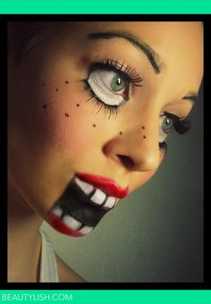 Doll | Natálie M.'s Photo | Beautylish    Love this and would be so easy to do!