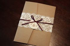 invitation with lace sleeve how to