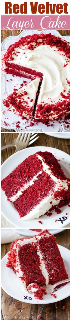Red Velvet Layer Cake with Cream Cheese Frosting. Learn all my tips, tricks, and techniques to making this classic beauty. This exquisite dessert is SO much more than a vanilla or chocolate cake.
