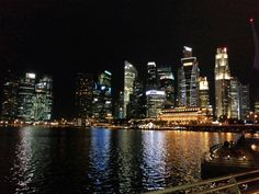 A great view from Merlion Park, Singapore