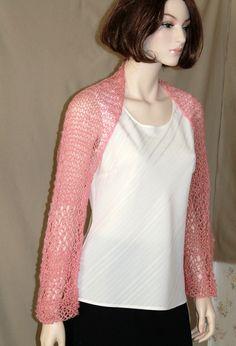 Mohair Dusty Pink Shrug  Bolero  Summer  by endlesscreation, $29.00
