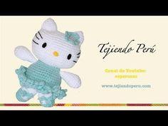 Hello Kitty ballet dancer (amigurumi) Part Head - Tejiendo Peru Crochet Patterns Amigurumi, Crochet Dolls, Crochet Yarn, Hello Kitty Crochet, Plush Pattern, Crochet Videos, Love Crochet, Crochet Animals, Cute Kids