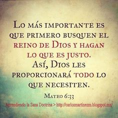 Carlos Martínez M_Aprendiendo la Sana Doctrina: Mateo 6:33