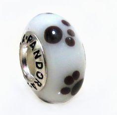 1 Sterling Silver Murano Glass Charm Puppy & Kitten Paw Bead Fit Pandora Chamilia Biagi Charms Bracelet (Authentic 925) EvesErose,http://www.amazon.com/dp/B00AYOWWJO/ref=cm_sw_r_pi_dp_-2x7rb1KJW08FJFF