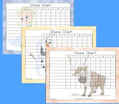 Frozen chore charts