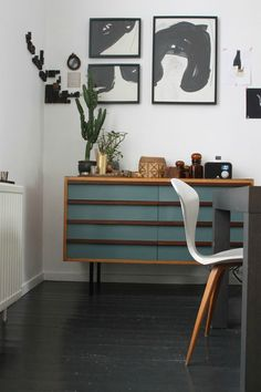 I love the color on the sideboard
