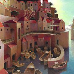 schilderij van Michiel Schrijver  | Dicht aan zee