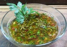 Learn how to make authentic Chimichurri Sauce with this delicious and easy recipe. Chimichurri sauce is a dressing originally from Argentina which is used for. Salsa Chimichurri Argentina, Argentinian Chimichurri, Argentina Food, Dips, Ceviche Recipe, Spicy Dishes, Portuguese Recipes, Portuguese Food, Barbecue Sauce