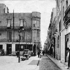 Plaça de la Vila y calle del Mar a principios de siglo XX. #badalona #barcelona #carrerdelmar #plaçadelavila #historia
