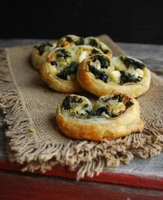 Spinach, Feta & Olives Pinwheels from Lisa@The Cutting Edge of Ordinary