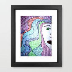 #Society6                 #love                     #Love #Your #Hair #Framed #Print #Erin #Jordan #Society6                      Love Your Hair Framed Art Print by Erin Jordan   Society6                                               http://www.seapai.com/product.aspx?PID=1677412