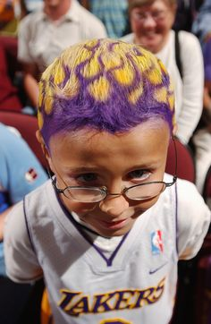 This young Lakers fan is game ready!