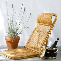 Vintage Rattan Beach Chair | chairish