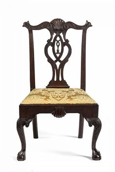 PENNSYLVANIA CHIPPENDALE CARVED CHERRYWOOD SIDE CHAIR, PHILADELPHIA, 1770-1790.