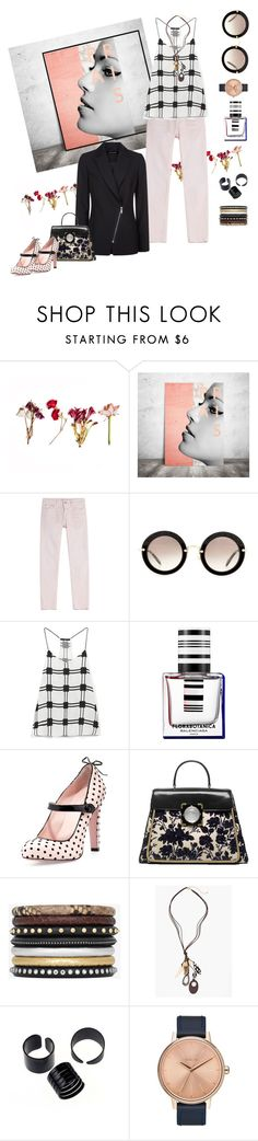 """""""A New Day"""" by petalp ❤ liked on Polyvore featuring Closed, Miu Miu, TIBI, Jaeger, Balenciaga, RED Valentino, Tory Burch, Yves Saint Laurent, Chico's and Nixon"""